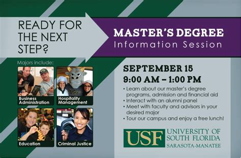 Usf Mba Program by Usf Sarasota Manatee Professional Mba Program