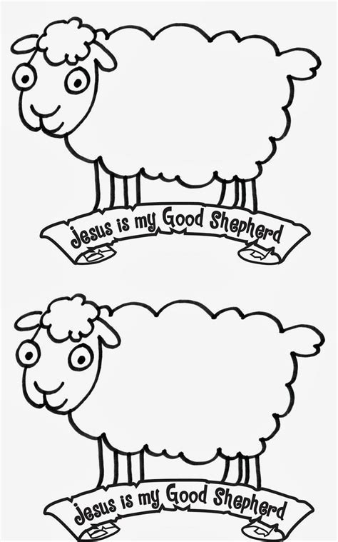 360 Best Images About Good Shepherd Crafts On Pinterest Sheep Coloring Pages Preschool