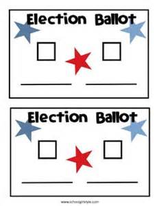 student council ballot template 1000 ideas about election day on presidents