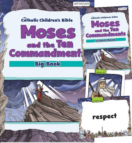 moses and the big science and creation books moses and the ten commandments bible big book set