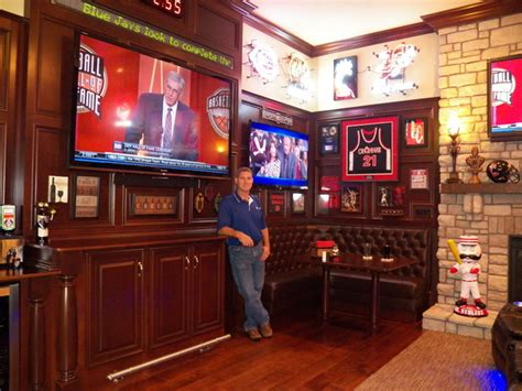 Home Theater Wall Sconces Lighting Stunning Sports Bar In Great Room Traditional Home