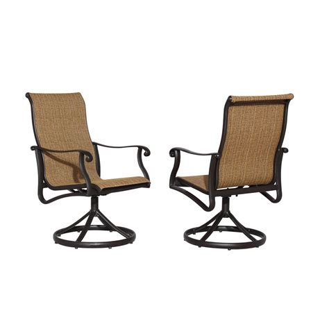 dinette swivel chair parts furniture darlee monterey sling patio swivel rocker