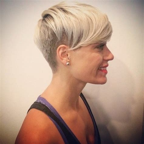Women Hairstyles With Sides Shorter Than Back | astounding womens shaved side hairstyles with short