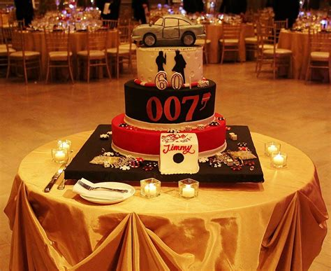 themes by james three james bond cake kensington florals events james bond