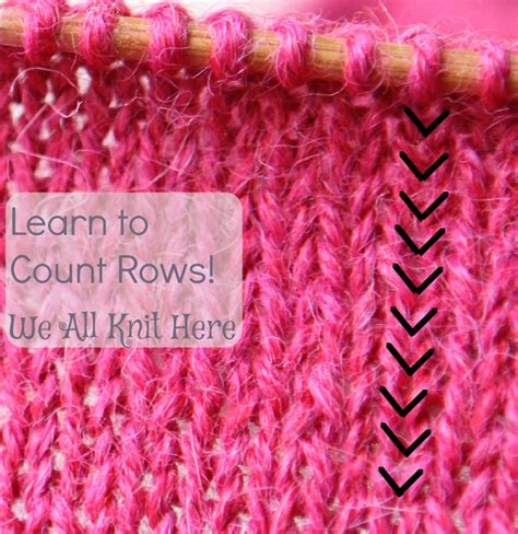 how to knit rows knitting let s count rows we all knit here
