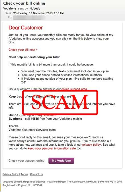 vodafone mail mobile vodafone check your bill quot phishing scam