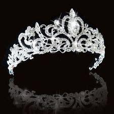 Luxury Sparkling Silver Plated Austrian Princess Tiara tiara tiaras headbands ebay