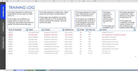 employee training log template blue layouts