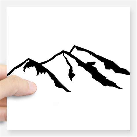 Mountains Sticker mountains stickers mountains sticker designs label