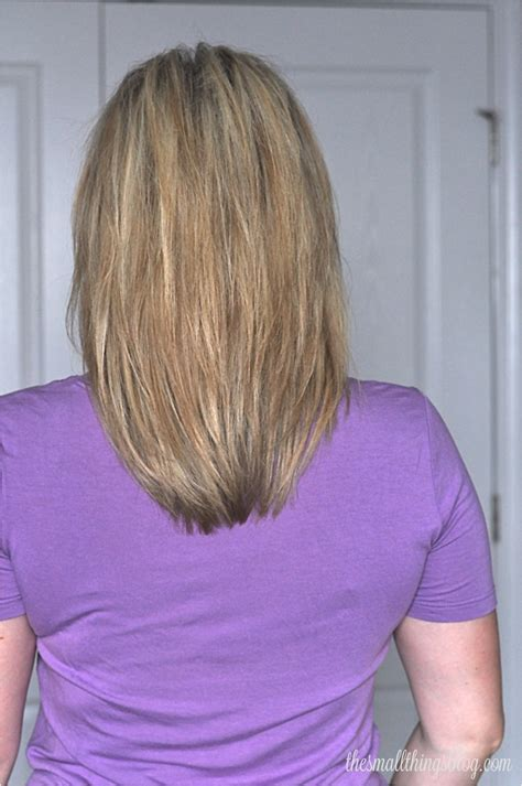 back of shoulder length hair my haircut the small things blog