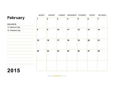 february 2015 calendar blank printable calendar template