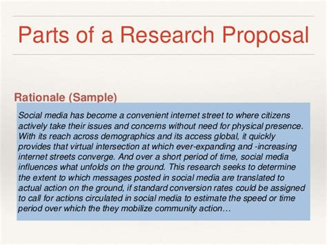 rationale of the study research paper different parts of research