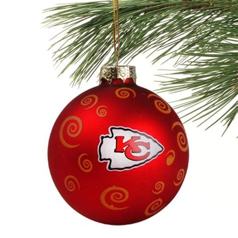 kansas city chiefs christmas ornament chief s pinterest