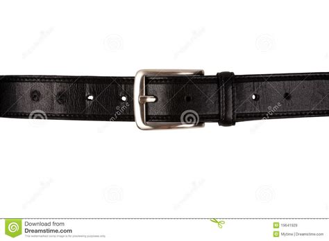 black leather belt with buckle royalty free stock images