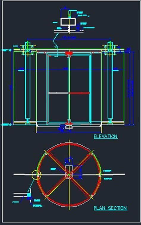 revolving door section revolving door cad files dwg files plans and details
