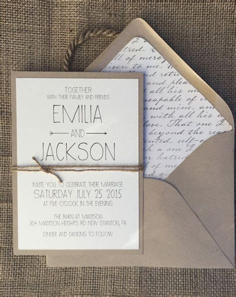 Best 25  Simple wedding invitations ideas on Pinterest