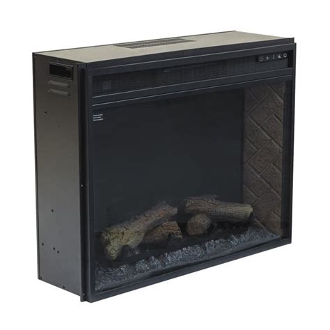 large electric fireplace insert infrared in black