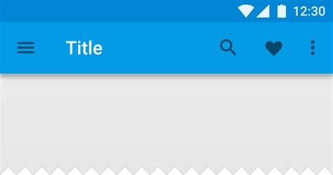 android top bar structure layout material design