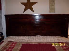 King Size Wood Headboard White My Project Reclaimed Wood Look Headboard King Size Diy Projects