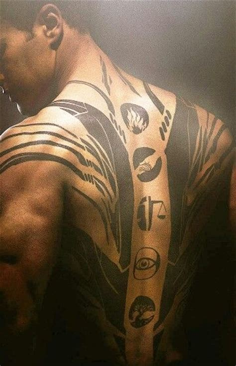 theo james divergent tattoo from the divergent four s of the factions