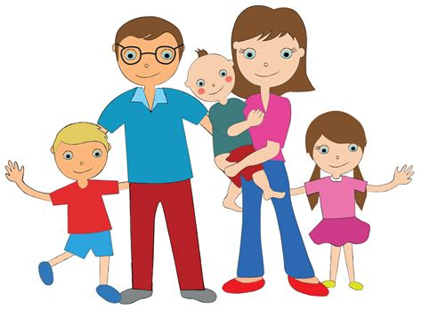 family clipart a family of 5 clipart clipartxtras