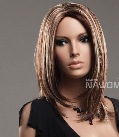 haircut designs with colors medium straight hairstyles