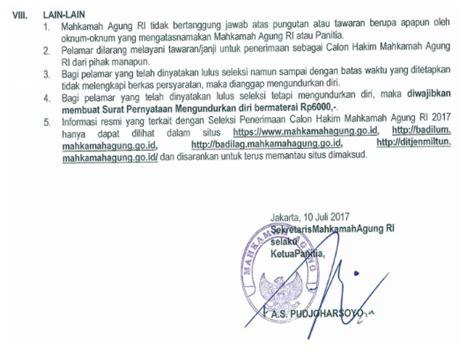 Contoh Surat Lamaran Kerja Kejaksaan Agung 2017 by Contoh Surat Lamaran Kerja Mahkamah Agung Calon Hakim