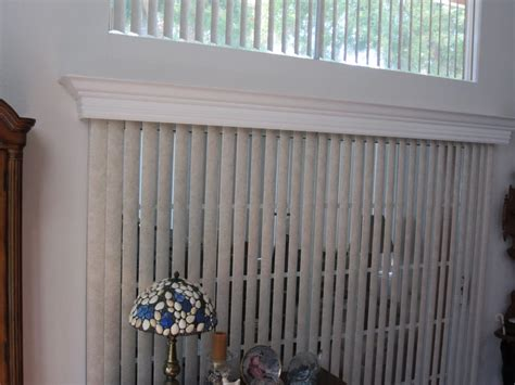 Blind Cornice Vertical Blinds With Wood Cornice Yelp