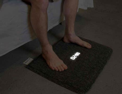 alarm clock rug stand up to up simple as that yanko design