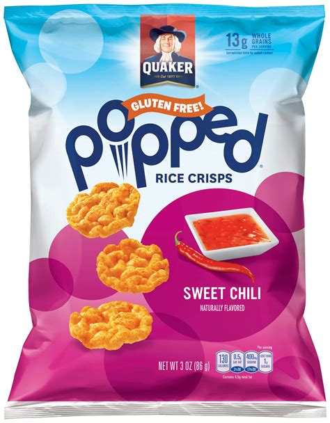 Product: More Products from Quaker   Quaker Rice Snacks, Sweet Chili Popped   QuakerOats.com