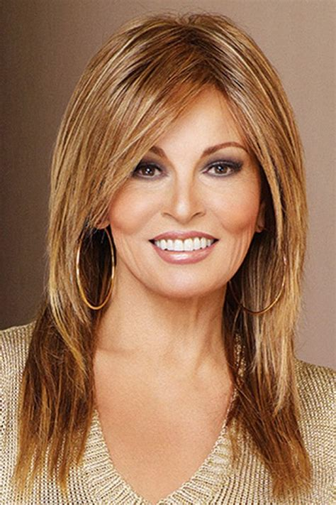 recent tv ads featuring asymmetrical female hairstyles always by raquel welch wigs