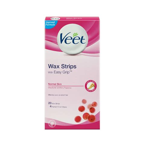 Veet Wax Strips Original Malaysia veet 174 easygrip ready to use wax strips for normal skin