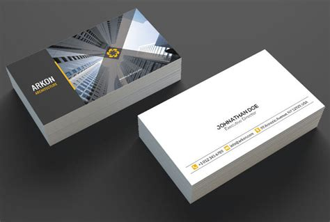 18 architect business cards free premium templates