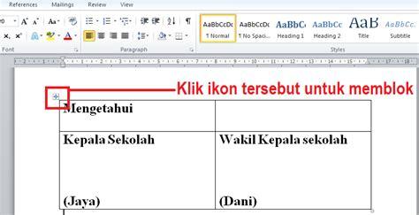 cara membuat format jurnal di ms word cara membuat format tanda tangan di dokumen microsoft word