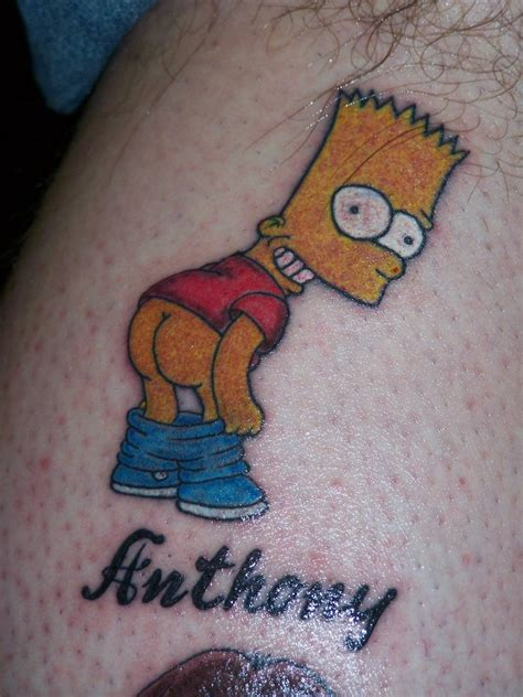 bart simpson tattoo pin do bart maggie simpsons wallpaper homer images