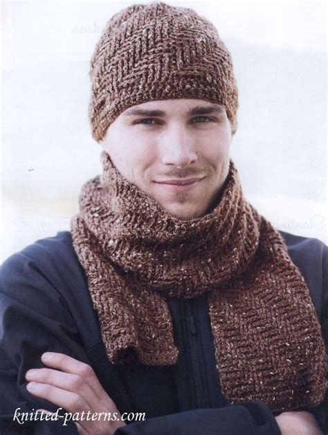 knitting pattern for mens scarf and hat free crochet men s hat and scarf patterns for inspiration