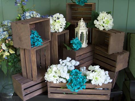Country Vintage Weddings Wedding Centerpiece Wood Rustic Wood Centerpiece