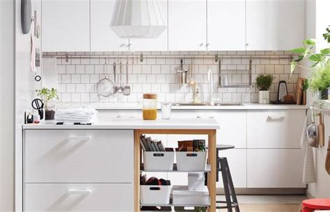 ways to open small kitchens to space saving ideas from ikea