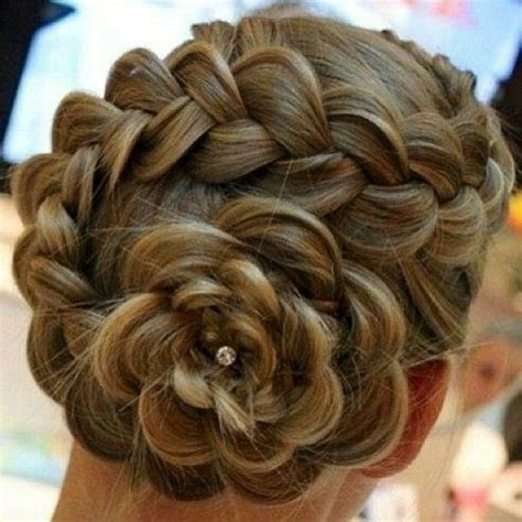 beautiful braid for braided hairstyles beautiful braided hair into a flower bun style do that