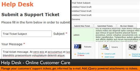 Help Desk Script Template by Help Desk Customer Service Ticket System By Dijitals
