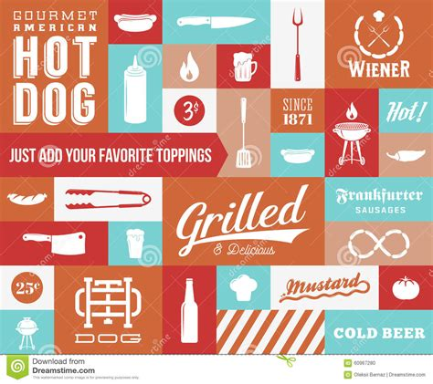 retro style pet icons set vector free download hot dog icon royalty free stock image cartoondealer com