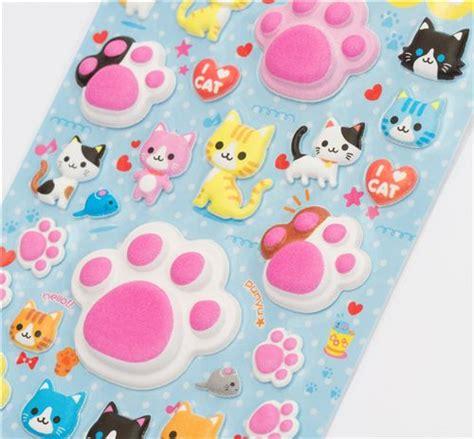 3d Sticker by Sponge 3d Sticker Cat Paws From Japan Sticker Sheets