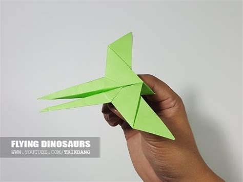 How To Make A Paper Flying Dinosaur - how to make an origami for kid flying dinosaur