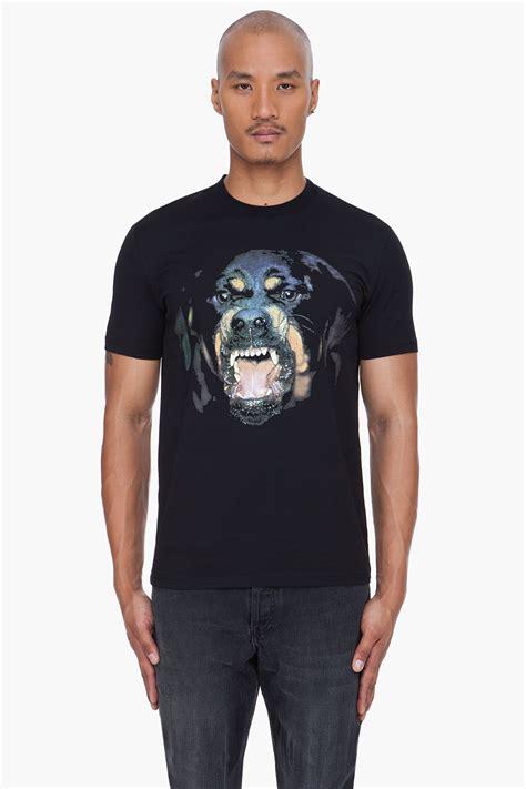 givenchy black rottweiler shirt givenchy black rottweiler print tshirt in black for lyst