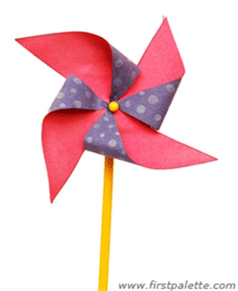 Paper Windmill Craft - pinwheel craft crafts firstpalette
