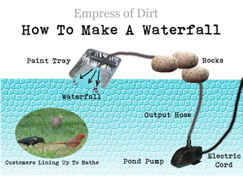 how to make a backyard waterfall how to make a little pond waterfall empress of dirt