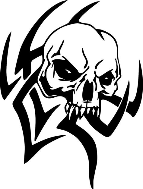 tribal skull design car truck window laptop vinyl decal