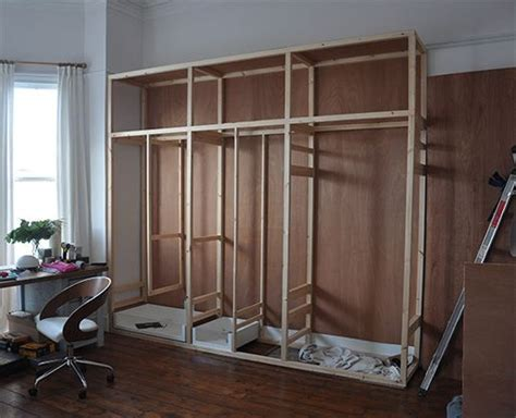 Make Your Own Built In Wardrobe by Best 25 Diy Fitted Wardrobes Ideas On Diy