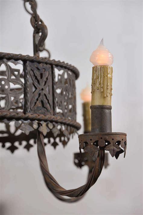 kronleuchter eisen antik antique iron chandelier at 1stdibs