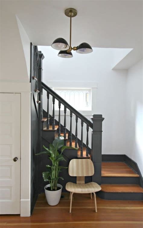 Decorating A Banister Painted Staircases Black Vs White Bright Green Door